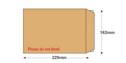 C5 - Manilla Board Back Envelopes - 120gsm - Non Window - Peel and Seal - image 2