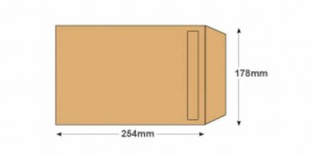 254 x 178 -  Manilla Commercial Envelopes - 115gsm - Non Window - Self Seal - image 2