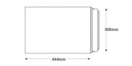444x368mm - White All Board Envelopes - 350gsm - Peel and Seal - image 2