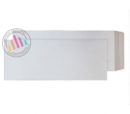 460 x 185mm - White All Board Envelopes - 350gsm - Peel and Seal