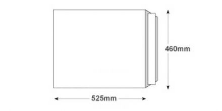 525 x 460mm - White All Board Envelopes - 350gsm - Peel and Seal - image 2