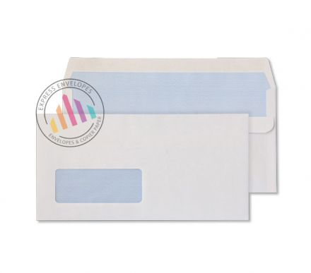 DL - White Commercial Envelopes - 80gsm - Window - Self Seal
