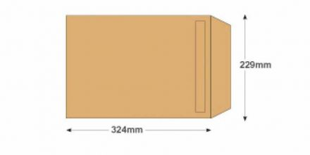 C4 - Manilla Commercial Envelopes - 115gsm - Non Window - Self Seal - image 2