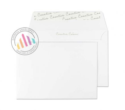 C6 - Ice White Envelopes - 120gsm - Non Window - Peel and Seal