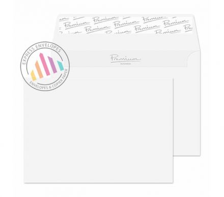 C6 - Ice White Wove Envelopes - 120gsm - Non Window - Peel and Seal