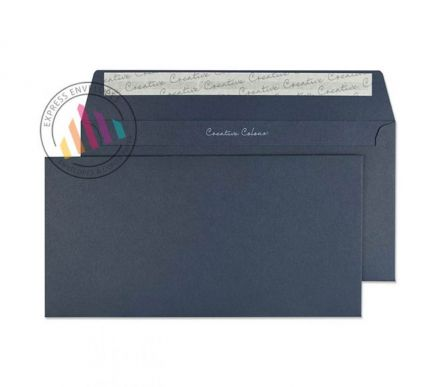 DL+ - Oxford Blue Envelopes -  120gsm - Non Window - Peel and Seal