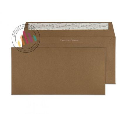 Oversize DL - Milk Chocolate Envelopes - 120gsm - Non Window - Peel and Seal