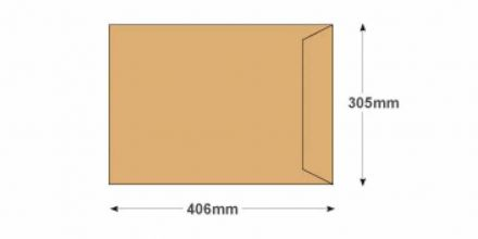 406 x 305mm - Manilla Commercial  Envelopes - 115gsm - Non Window - Self Seal - image 2