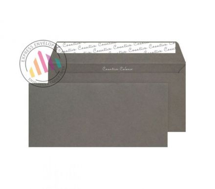 DL+ - Graphite Grey Envelopes - 120gsm - Non Window - Peel and Seal