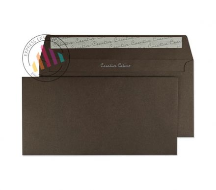 DL+ - Bitter Chocolate Envelopes - 120gsm - Non Window - Peel and Seal