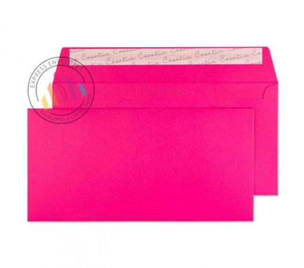 DL+ - Shocking Pink Envelopes - 120gsm - Non Window - Peel and Seal