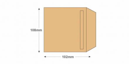 108 x 102mm - Manilla Wage Envelope - 80gsm - Non Window - Self Seal - image 2