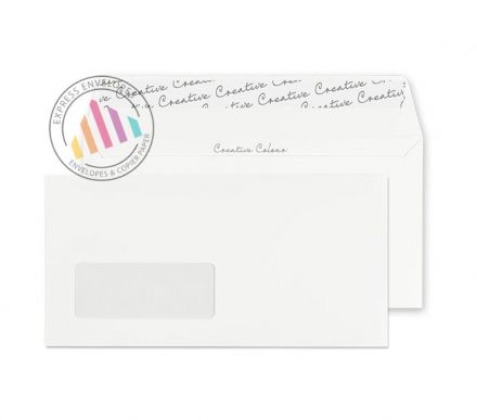 DL+ - Ice White Envelopes - 120gsm - Window - Peel and Seal