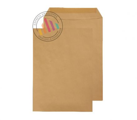 C4 - Manilla Commercial  Envelopes - 115gsm - Non Window - Gummed