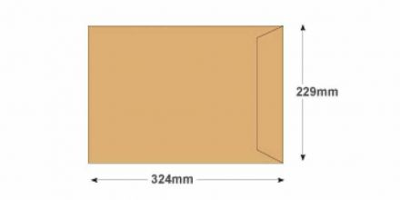 C4 - Manilla Commercial  Envelopes - 115gsm - Non Window - Gummed - image 2