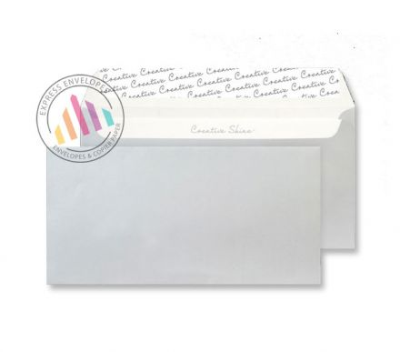DL+ - Metallic Silver Envelopes - 130gsm - Non Window - Peel and Seal