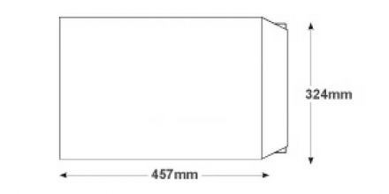 C3 - White Board Back Envelopes - 120gsm - Non Window - Peel and Seal - image 2