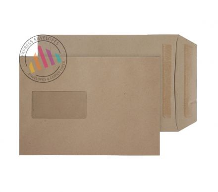 C5  - Manilla Commercial Envelopes - 90gsm - Window - Self Seal