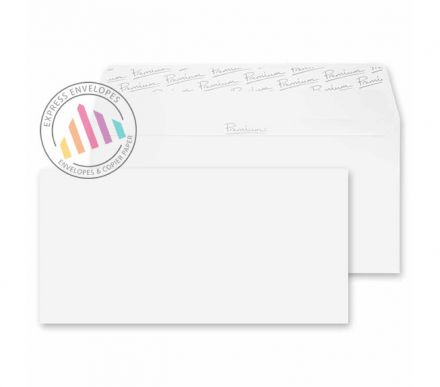 DL - Ice White Wove Envelopes - 120gsm -  Non Window - Peel and Seal