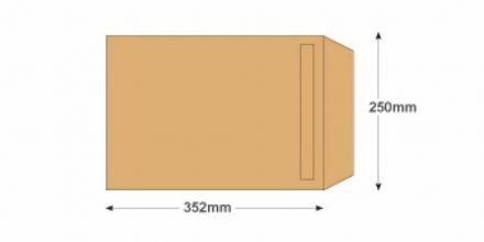 B4 - Manilla Commercial  Envelopes - 90gsm - Non Window -Self Seal - image 2