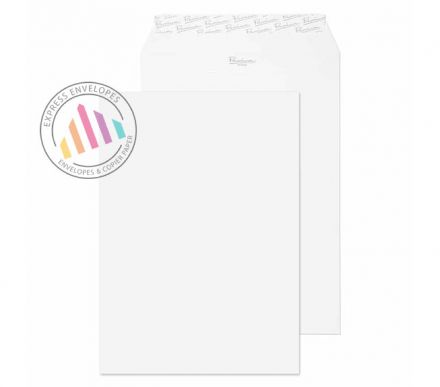 C4 - Ice White Wove Envelopes - 120gsm - Non Window - Peel and Seal