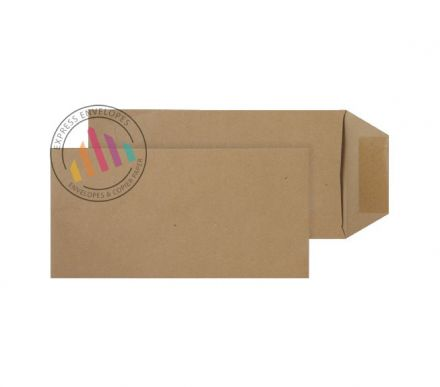 DL - Manilla Commercial Envelopes - 80gsm - Non Window - Gummed