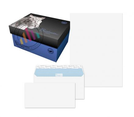 DL Envelopes + A4 Paper - Ultra White Wove Soho Box - 120gsm - Peel and Seal