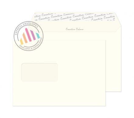 C5 - Milk White Envelopes - 120gsm - Window - Peel and Seal