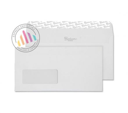 DL - High White Wove Envelopes - 120gsm - Window - Peel and Seal