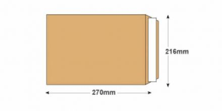 270x216mm - Manilla Commercial  Envelopes - 120gsm - Non Window - Peel & Seal - image 2