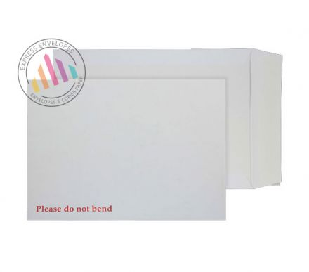 241x178mm - White Board Back Envelopes - 120gsm - Non Window - Peel and Seal
