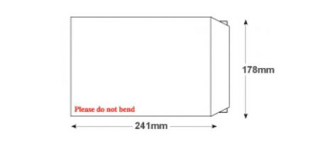 241 x 178mm - White Board Back Envelopes - 120gsm - Non Window - Peel and Seal - image 2