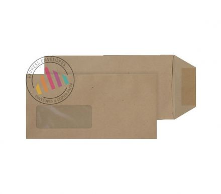 DL - Manilla Commercial Envelopes - 80gsm - Window - Gummed