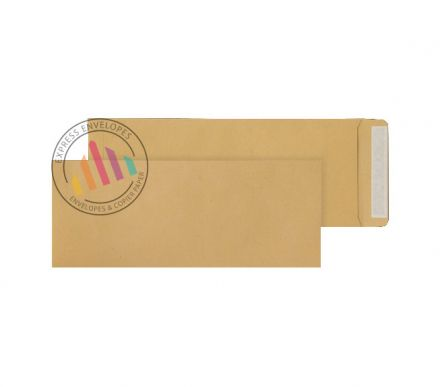 381 x 152mm - Manilla Commercial  Envelopes - 115gsm - Non Window - Peel & Seal
