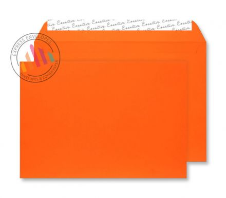 C5 - Orange Velvet Envelopes - 140gsm - Non Window - Peel and Seal