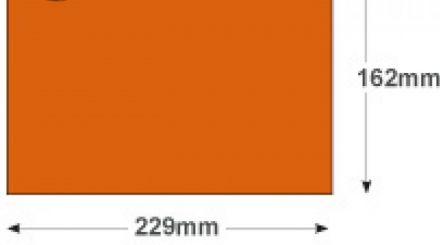 C5 - Orange Velvet Envelopes - 140gsm - Non Window - Peel and Seal - image 2