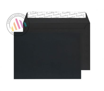 C5 - Black Velvet Envelopes 162×229mm - Small Pack