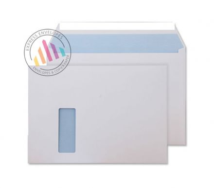 C4 - Ultra White Commercial Envelopes - 120gsm - Window - Peel & Seal