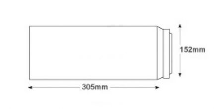 305 x 152 - White Commercial Envelopes - 100gsm - Non Window - Peel & Seal - image 2