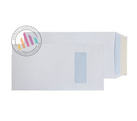 305x152mm - White Commercial Envelopes - 100gsm - Window - Peel & Seal
