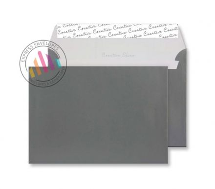 C5 - Metallic Gunmetal Envelopes - 120gsm - Non Window - Peal and Seal