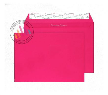 C5 - Shocking Pink Envelopes - 120gsm - Non Window - Peel and Seal