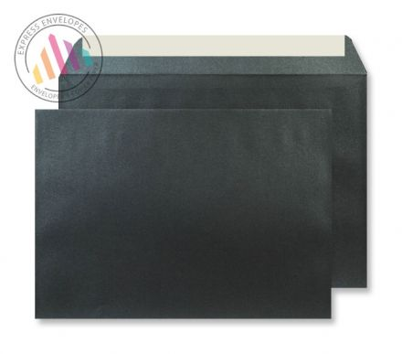 C5 - Black Quartz Envelopes - 120gsm - Non Window - Peel and Seal