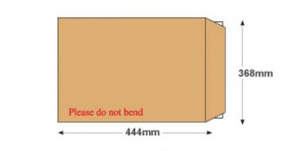 C3+ - Manilla Board Back Envelopes - 120gsm - Non Window - Peel and Seal - image 2