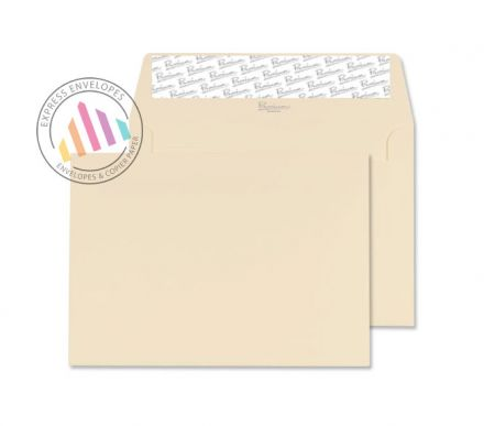 C6 - Cream Wove Envelopes - 120gsm - Non Window - Peel and Seal