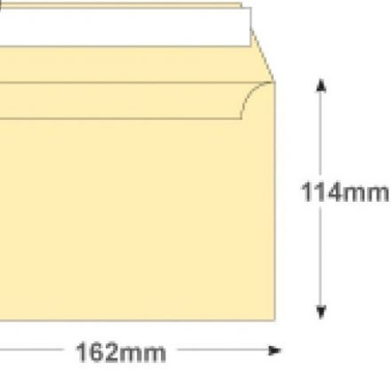 C6 - Cream Wove Envelopes - 120gsm - Non Window - Peel and Seal - image 2