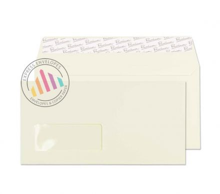 DL - Oyster Wove Envelopes - 120gsm - Window - Peel and Seal