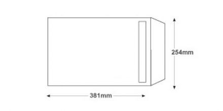 381 x 254 - White Commercial Envelopes - 120gsm - Non Window - Peel & Seal - image 2