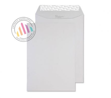 C4 - Diamond White Laid Envelopes - 120gsm - Non Window - Peel and Seal