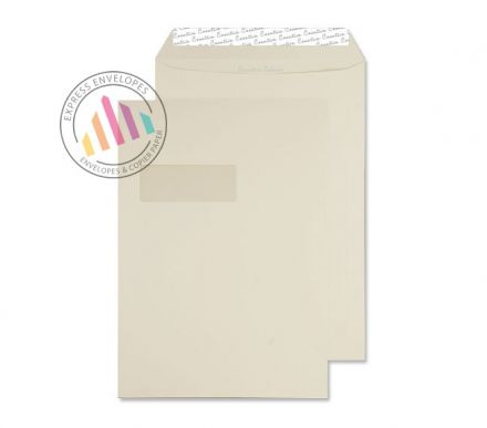 C4 - Vanilla Ice Cream Envelopes - 120gsm -  Window - Peel and Seal